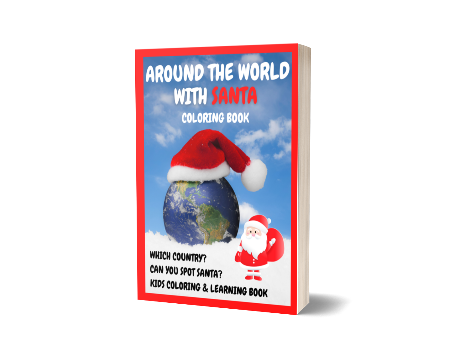 Around The World With Santa Coloring Book