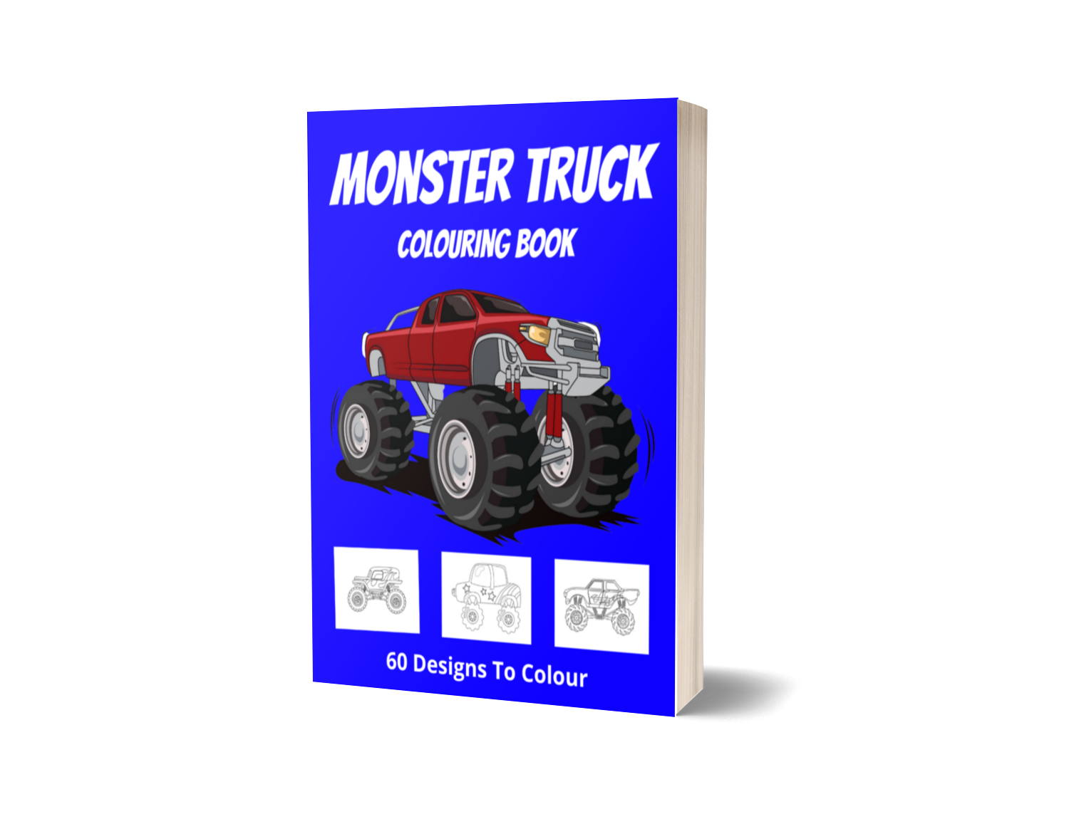 Monster Truck Colouring Book