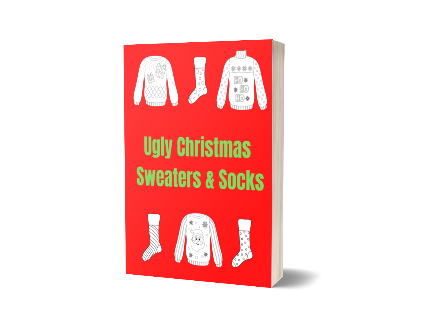 Ugly Christmas Sweater & Socks Colouring Book