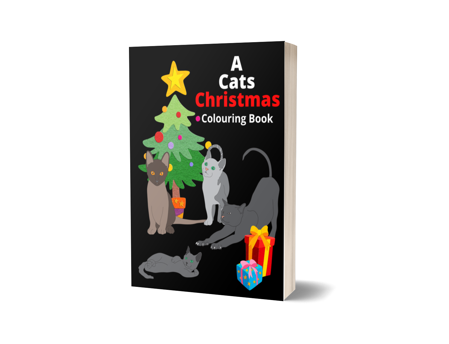A Cats Christmas Colouring Book