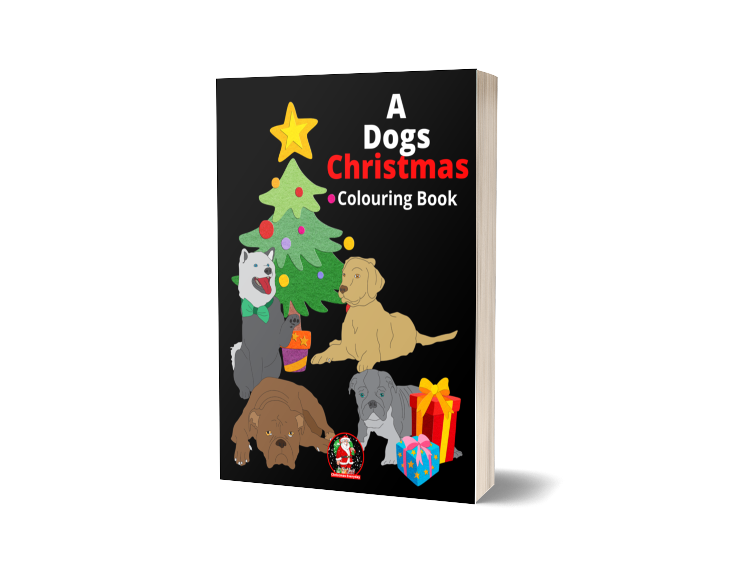 A Dogs Christmas Colouring Book