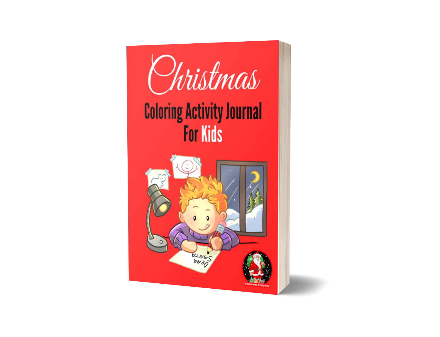 christmas colouring activity journal for kids