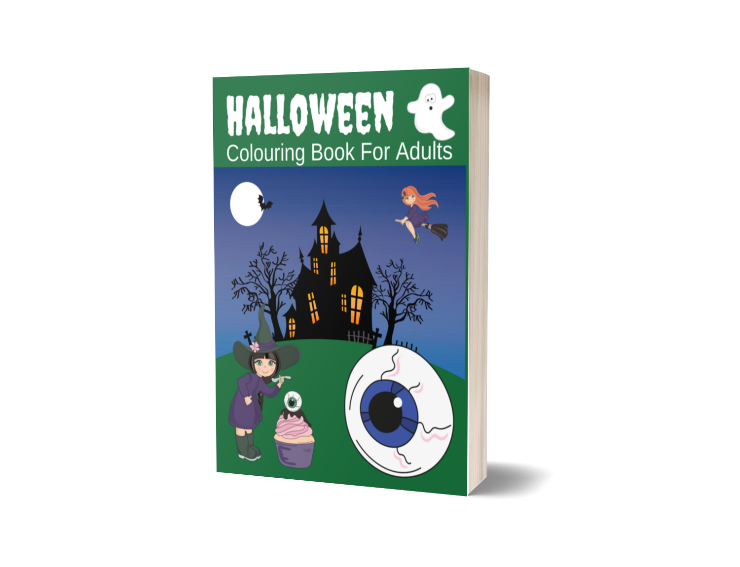 Halloween Colouring Book For Adults